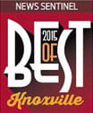 Best of Knoxville 2015 award