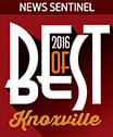 Best of Knoxville 2016 award